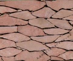 Песчаник бордо резаный