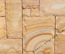 Песчаник тигровый рустованный
