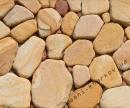 Песчаник тигровый окатанный